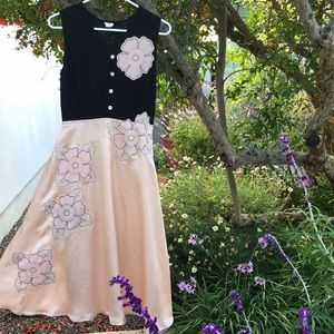 Anthropology vintage inspired silk dress